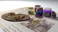 3D art painting kit model