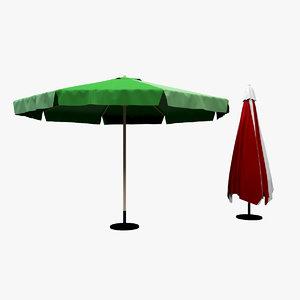 garden umbrella 3D