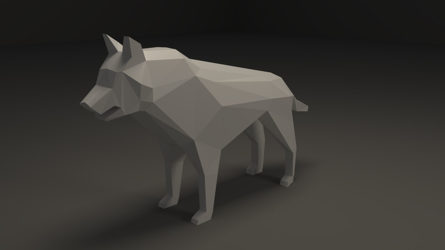 3D wolf wildlife animal