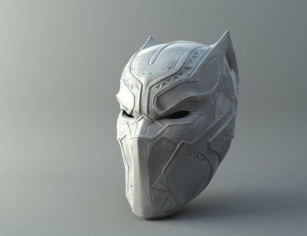3D model black panther mask civil war
