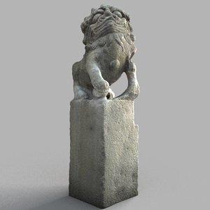 3D lion-statue-009m lion sculpture