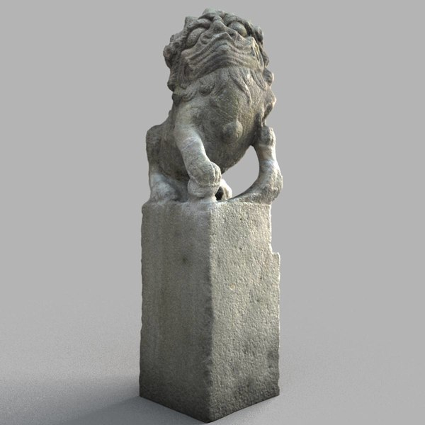 3D lion-statue-009m lion sculpture
