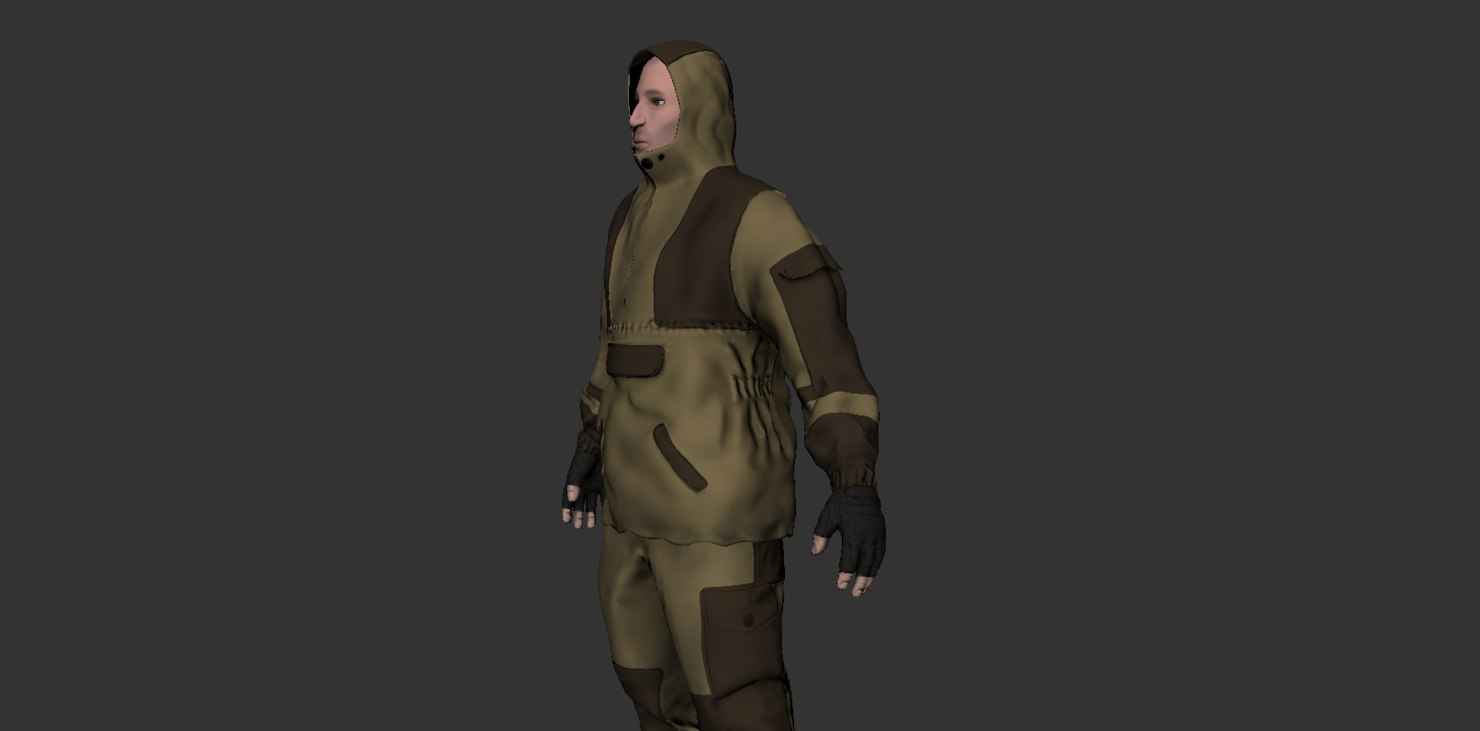 military rebel eastern europe 3D model