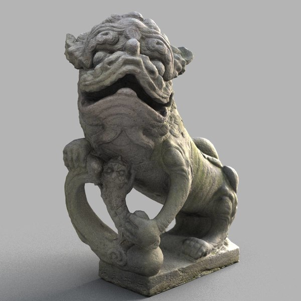 3D lion-statue-010f lion sculpture