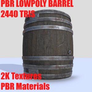 barrel pbr 3D model