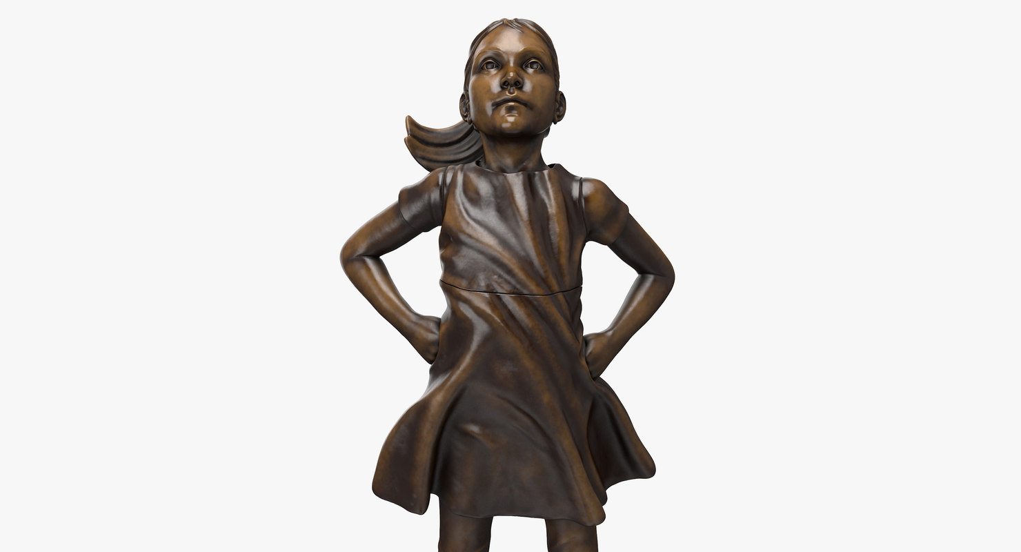 3D fearless girl statue model