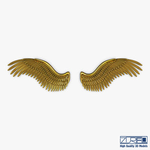 3D eagle wings gold v