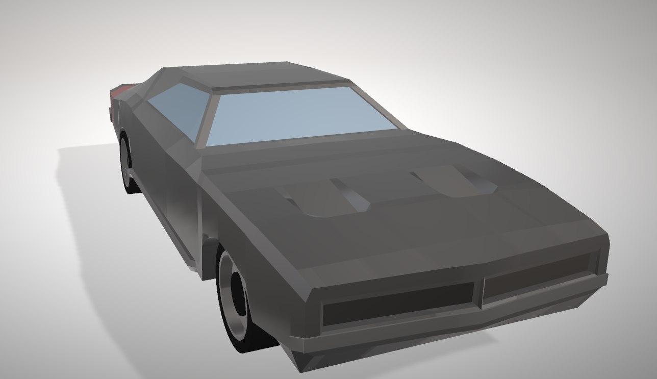 3D dodge charger model