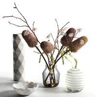bowl vases flowers 3D