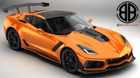 chevrolet corvette zr1 2019 3D model