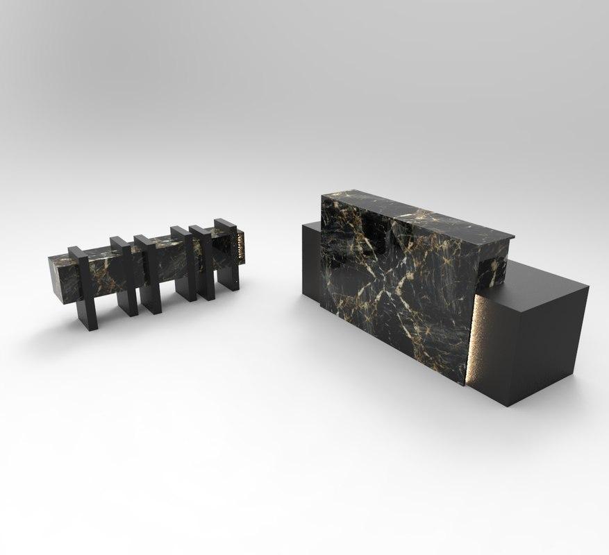 3D hotel desk reception dressuar