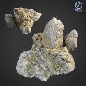 scanned rock cliff q2 3D
