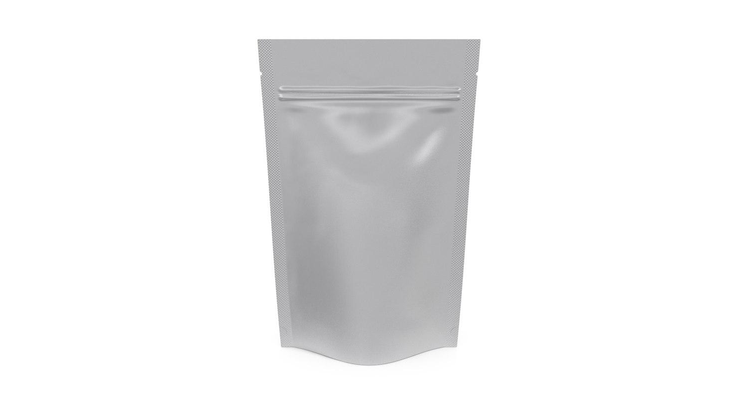 3D silver foil clear packaging model