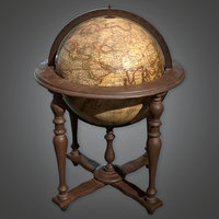 Standing Globe (Antiques) - PBR Game Ready
