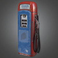 Old Gas Pump (Antiques) - PBR Game Ready