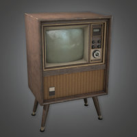 Old TV (Antiques) - PBR Game Ready