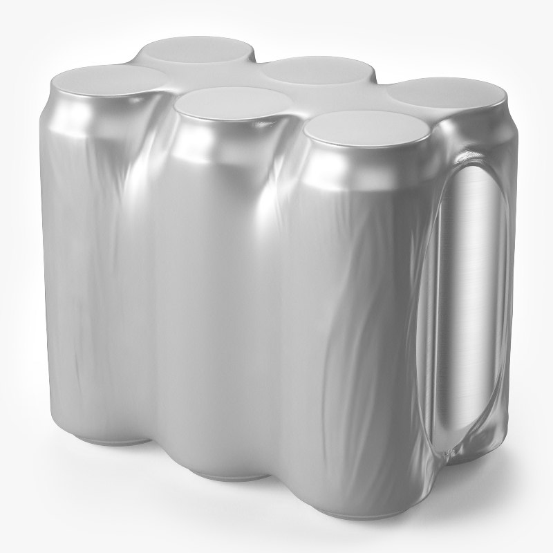 realistic pack cans 3D model