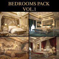 luxurious bedrooms pack 1 3D