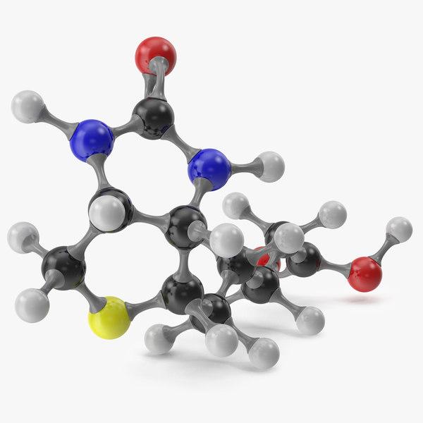 biotin molecular model