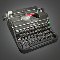 Typewriter 01 (Antiques) - PBR Game Ready