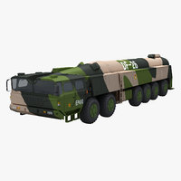 chinese df-26 missile 3D model