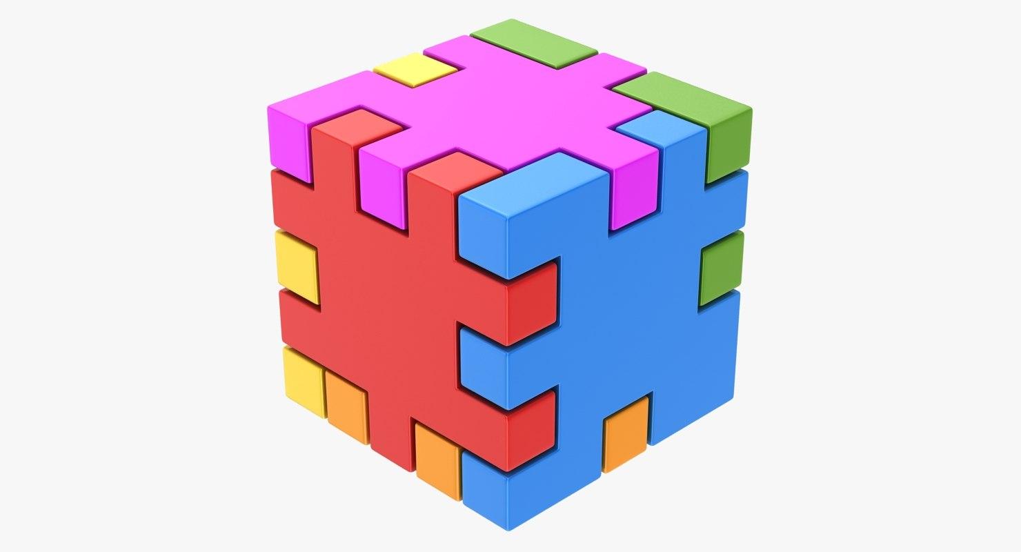 happy cube 3D model
