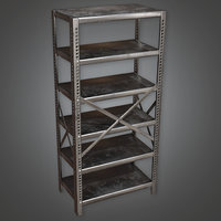 Metal Shelf (Antiques) - PBR Game Ready