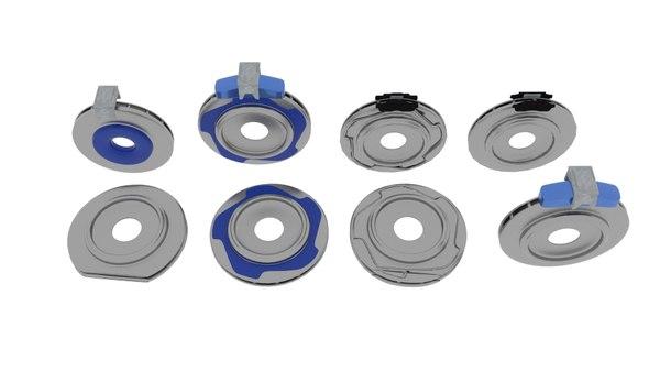 3D brake rotor hide model