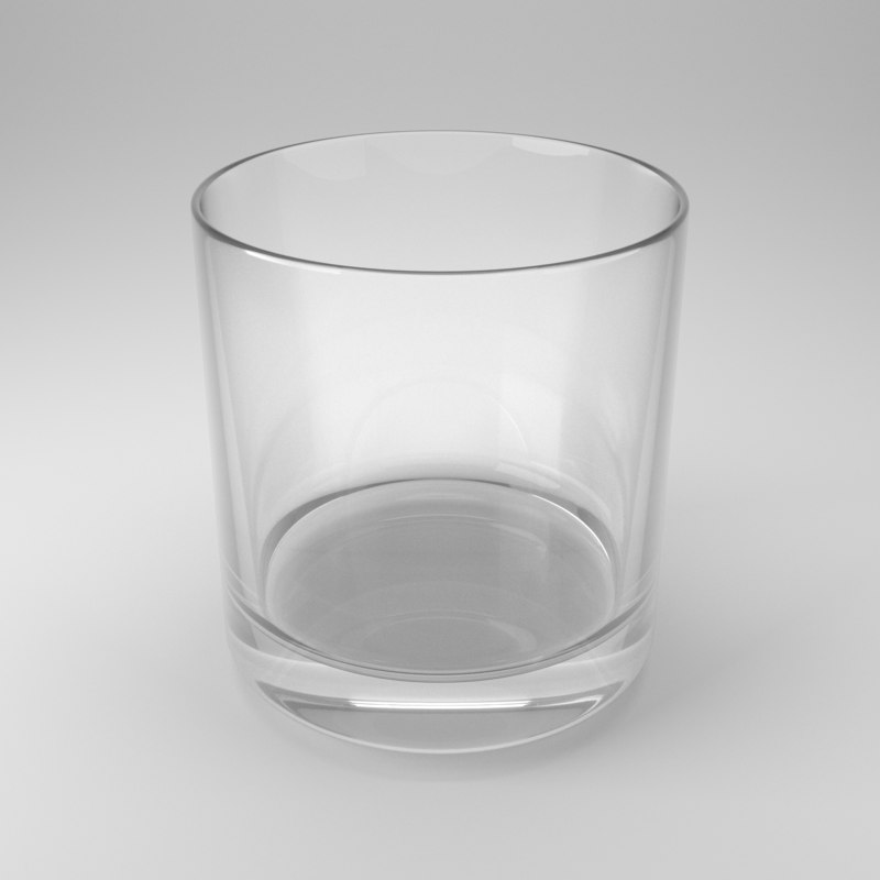 3D model whiskey glass