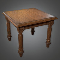 Old Table 01(Antiques) - PBR Game Ready
