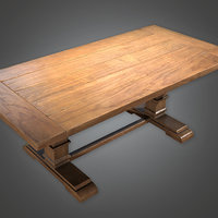 Old Table 03(Antiques) - PBR Game Ready