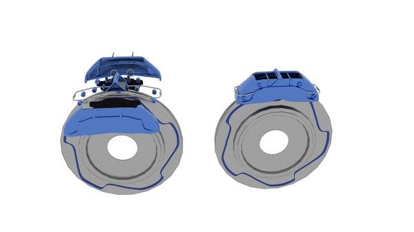 brake rotor exploded model