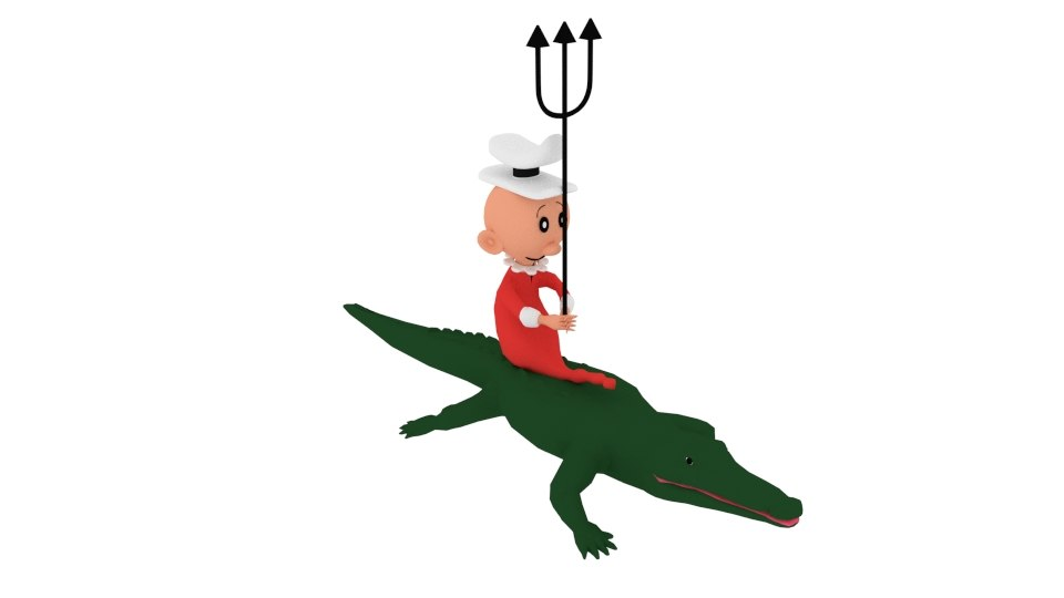 3D swee pea croc
