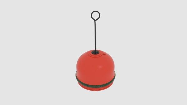 buoy row 3D model
