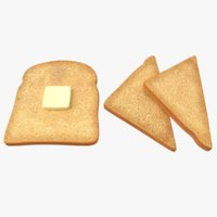 toast bread butter 3D model