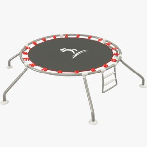 trampoline modelled 3D model
