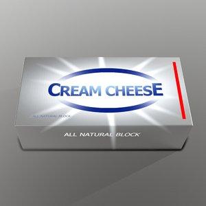 cream cheese 3D