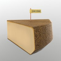 3D gruyere cheese