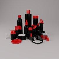 3D cosmetics set model
