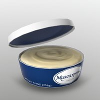 mascarpone cheese 3D model