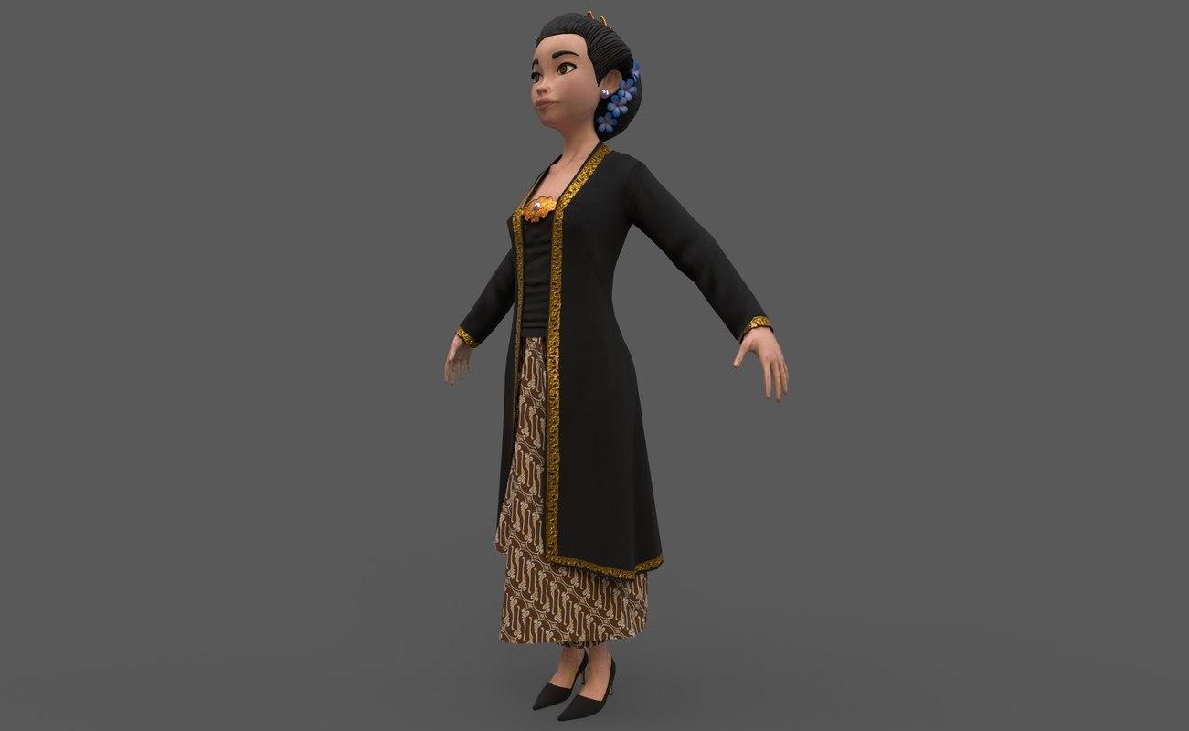 kartini character model