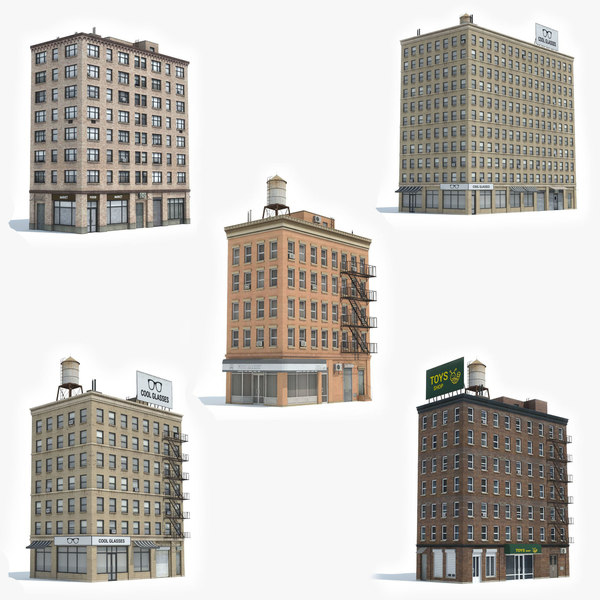 ready 5 apartment building model