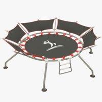 trampoline modelled 3D