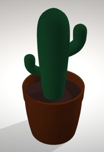 simple cactus 3D model