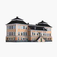 baroque palace building 3D model