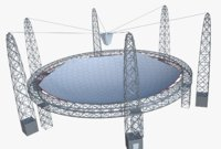 huge satellite dish 3D model