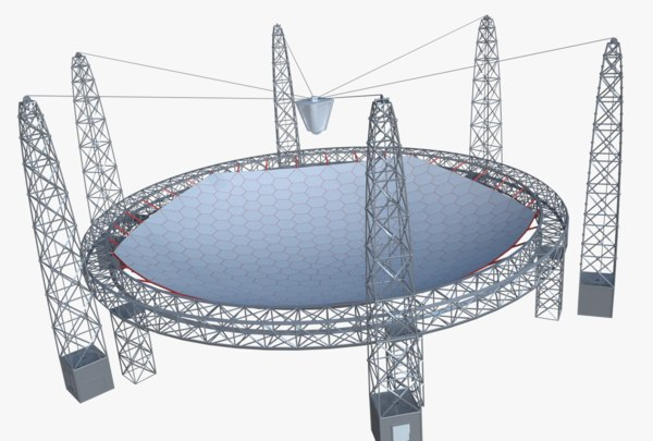 huge satellite dish 3D model