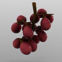 grapes ready games 3D model
