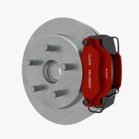 3D brake rotor
