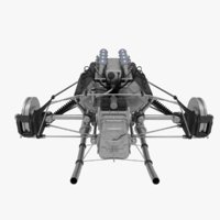 suspension f1 car 3D model